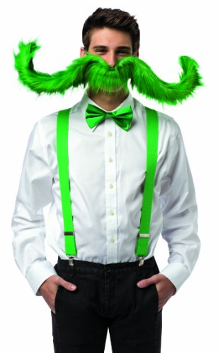 Rasta Imposta Men's 30 Inch Super 'Stache, Green, One Size