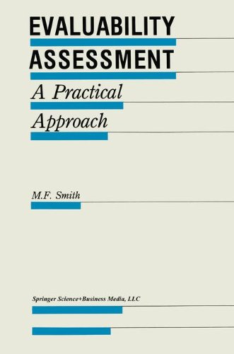 Evaluability Assessment: A Practical Approach (Evaluation in Education and Human Services)