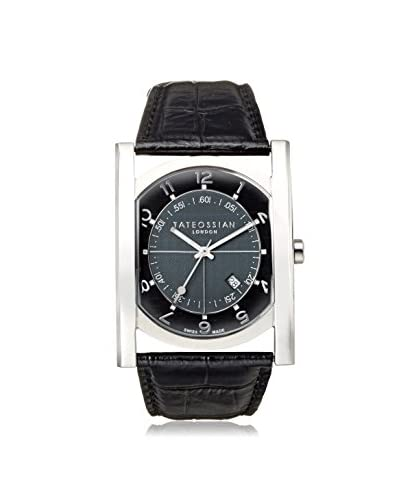 Tateossian WA0009 Tempo Sport Black Leather Stainless Steel Watch