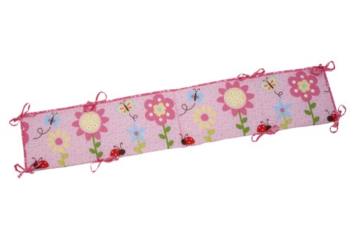 Little Bedding Traditional Padded Bumper, Miss Ladybug (Discontinued by Manufacturer)