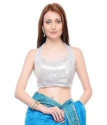 Alankar Textiles Silver Polysatin Blouses