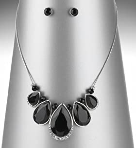 Multi-Faceted Gemstone Diamanté Necklace