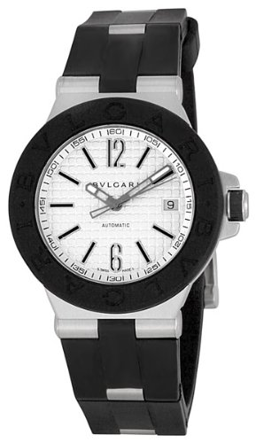 Bvlgari Men's BVL101630 Diagono Silver Dial Watch