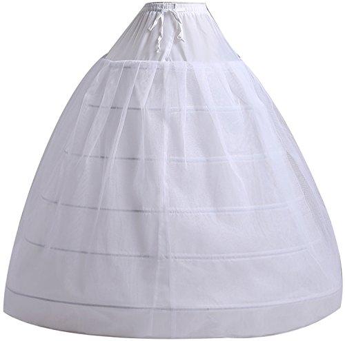 6 Bone Full Hoop Petticoat Skirt Princess Belle costume