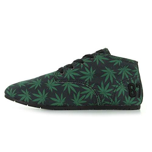 Eleven Paris  Bastee Kalifa,  Sneaker donna Nero Nero/Verde 36