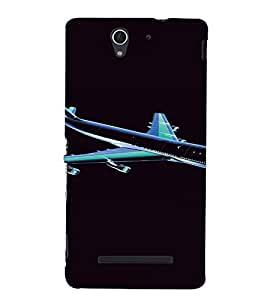 PrintVisa Aeroplane Travel Design 3D Hard Polycarbonate Designer Back Case Cover for Sony Xperia C3 Dual