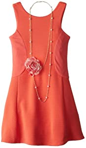 Emily West Girls 7-16 Ottoman Flirt-and-Flare Dress with Necklace by Emily West