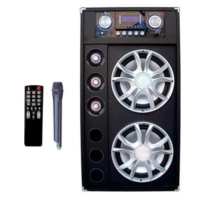 "Performance Teknique Dual 12"" High Power Speakers / Bluetooth / Rechargeable Battery / Big Led Screen"