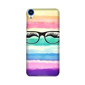 HTC Desire 820/ 820G Designer Printed Case & Covers (HTC Desire 820/ 820G Back Cover) - eyes glasses girl