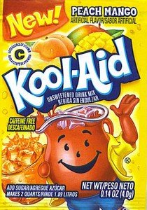 48 Kool Aid packets of Peach Mango Makes 96 quarts just add sugar (043000045824)