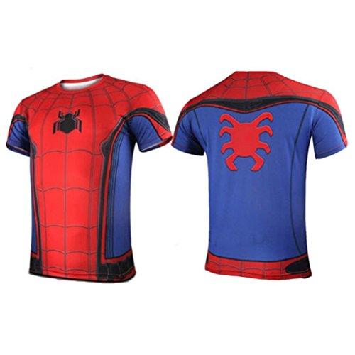Marvel DC Marvel Comics Super héros Figurines D'Action Compression Sport T-shirt Spider-Man 10 S