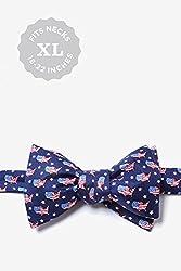 Navy Blue Silk Bow Tie   U!S!A! Self Tie Bow Tie