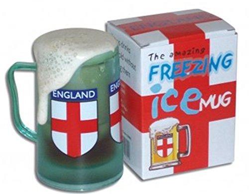 Herren Fun Party, St Georges Day Gefrierschrank, England Flagge Beer Cooler Glas