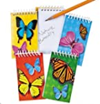 Pack of 12 Butterfly Mini Spiral Note...