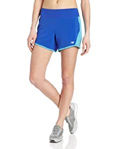 New Balance Damen Laufhose 5in 2-in-one, dzb dazzblue, L, 283640-50