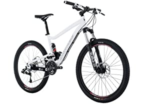 Diamondback Sortie 1 Trail Full Suspension Mountain Bike (26-Inch Wheels), White, Small/15.5-Inch