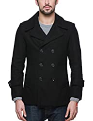 Match Mens Wool Classic Pea Coat Wint…