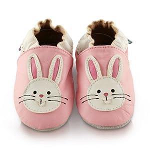 Snuggle Feet - Suaves Zapatos De Cuero Del Bebé conejo por Snuggle Feet