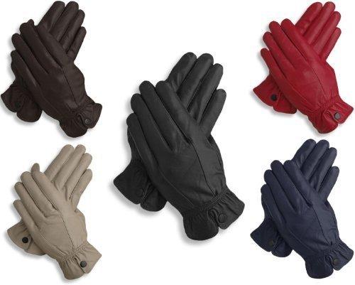 EyeCatchTM - Raven Ladies Premium Womens Genuine Leather Gloves