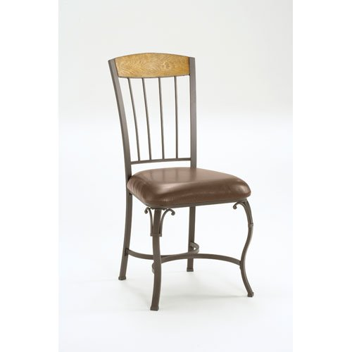 Hillsdale Lakeview Dining Chairs, Wood and Metal Finish, Set of 2