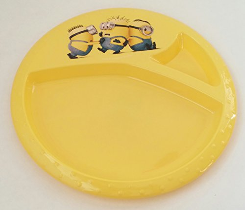 Minions-Movie-Toddler-Plate-Despicable-Me-Divided-8-Plate-Yellow-by-ZAK-Designs