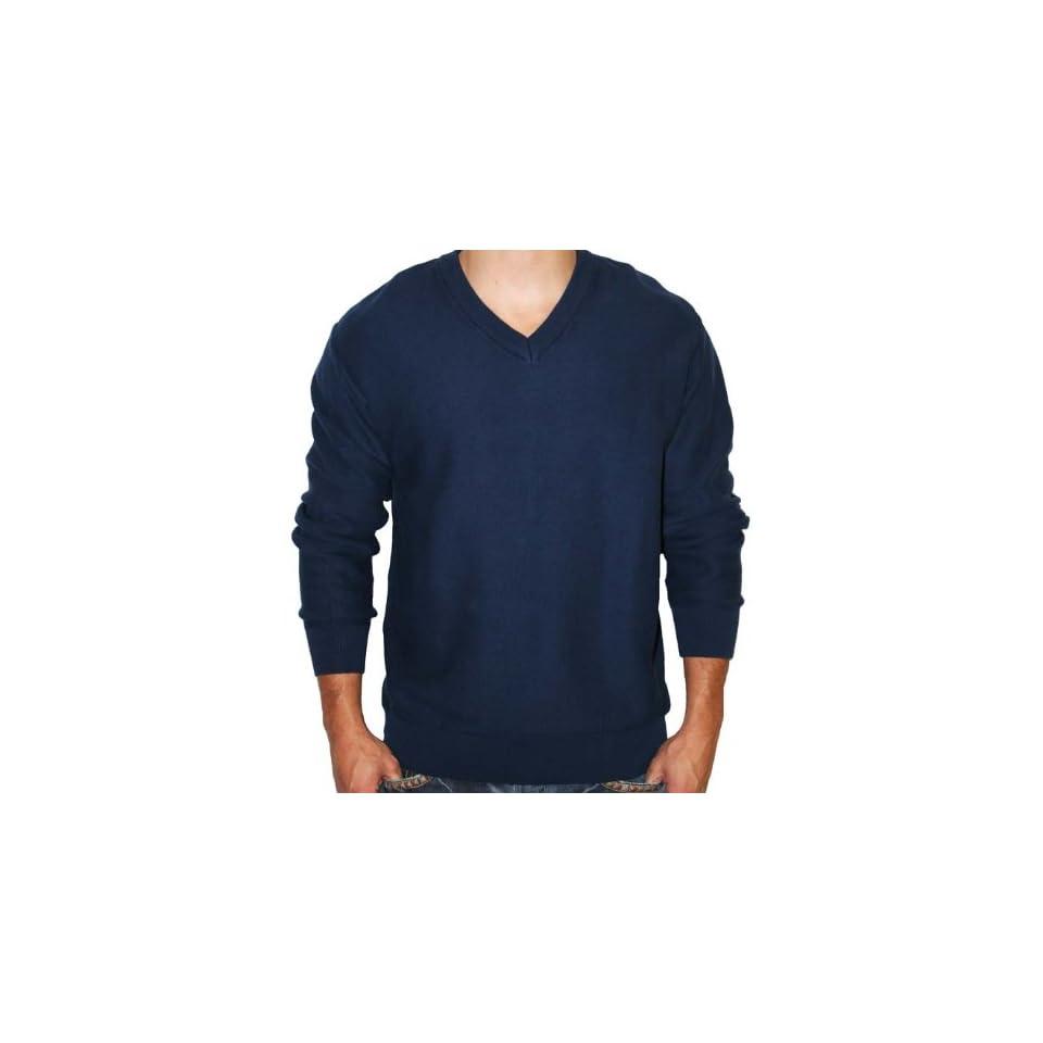 GREG NORMAN Essentials Sweater Mens Long Sleeve Shirt Cotton Golf Shark