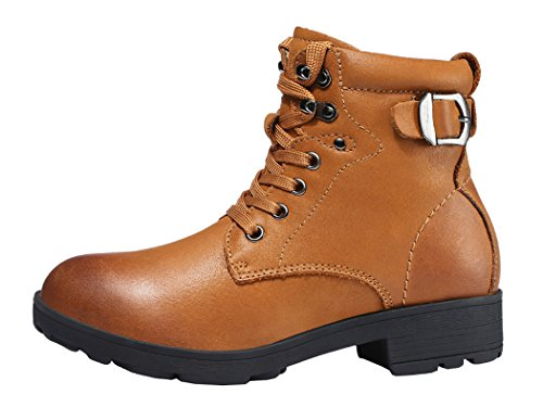 Guciheaven Winter New Style Britain Leather Handmade Martin Boots(5.5 B(M)Us, Red)