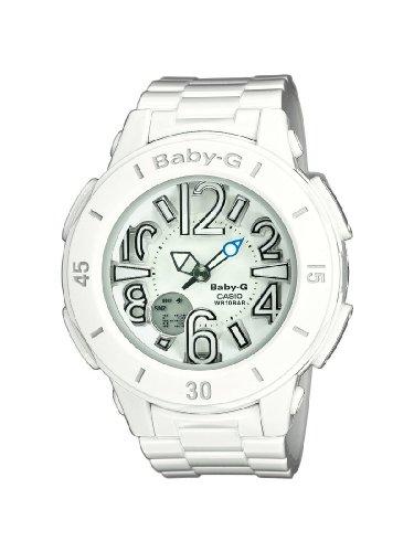 Casio BGA-170-7B1ER - Reloj analógico y digital de cuarzo para mujer con correa de resina, color blanco
