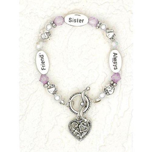 Sister Friend Always Child Size Charm Bracelet 6