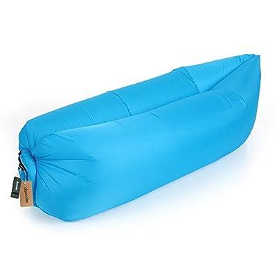Docooler Outdoor Portable Bequeme Aufblasbare Liege Luft Schlafsack Polyester Air Schlaf Sofacouch Camping Strand die Beste Wahl für die Freizeit