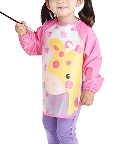 waterproof-baby-girls-apron-bibs-cartoon-animal-kids-eat-play-painting-apron-pink
