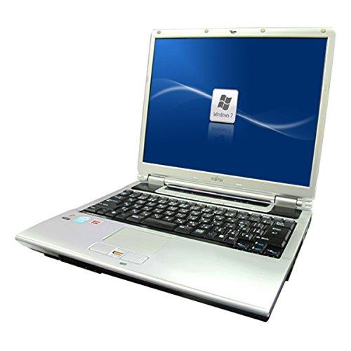 中古パソコン Windows7HP32Bit済 A4サイズ FMV製NB50T●15インチ大画面 高速Celeron M-1.73GHz搭載 メモリ1GB HDD60GB済 DVDマルチ 無線LAN内蔵 再生用バックアップメディア付属