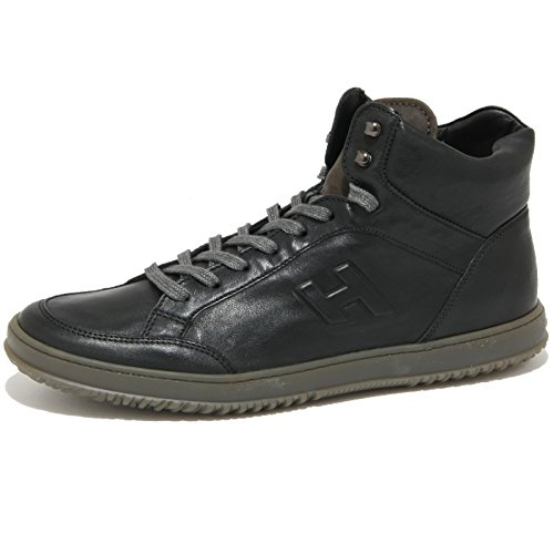 2028O sneaker HOGAN DERBY MID CUT nero scarpe uomo shoes men [8.5]