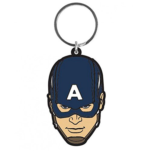 Avengers Age of Ultron Rubber Portachiavi Keychain Captain America 6 cm Pyramid International