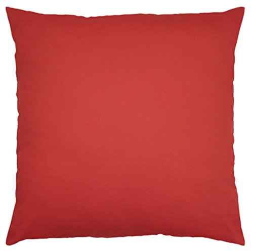 Throw Pillow Inserts 16 X 16 : JinStyles Cotton Canvas Accent Decorative Throw Pillow Covers (Solid Red, Square, 1 Cushion ...
