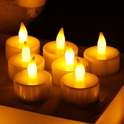 flameless led tea light fake candle romantic style design home decor battery 24p ebay. Black Bedroom Furniture Sets. Home Design Ideas