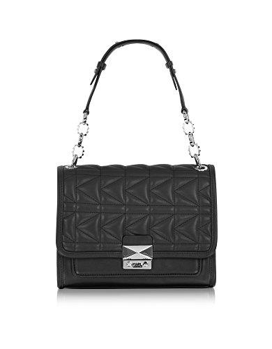 karl-lagerfeld-womens-66kw3019-black-leather-shoulder-bag