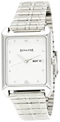 Sonata Analog White Dial Mens Watch - NC7007SM01A