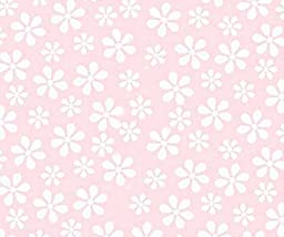 SheetWorld Fitted Bassinet Sheet - Pastel Pink Floral Woven - Made In USA