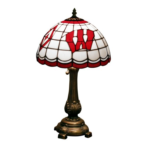 NCAA Wisconsin Badgers Tiffany Table Lamp The Memory Company Lamps autotags B00124INHK