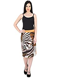 Woodin Mid Calf Length Printed A Line Skirt for Women