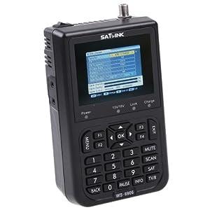 SatLink WS-6906 Localizador Digital de Señal Satelite con Pantalla 3.5'' DVB-S FTA y el AV al Adaptator Scart AV