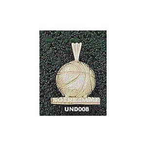 Notre Dame Fighting Irish Notre Dame Basketball Pendant - 14KT Gold Jewelry by Logo Art
