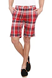 The Cotton Company Checkered Shorts - Red Currant Plaid