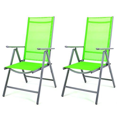 Nexos-2-er-Set-Stuhl-Klappstuhl-Gartenstuhl-Hochlehner-fr-Terrasse-Balkon-Camping-Festival-aus-Aluminium-verstellbar-leicht-stabil-grn