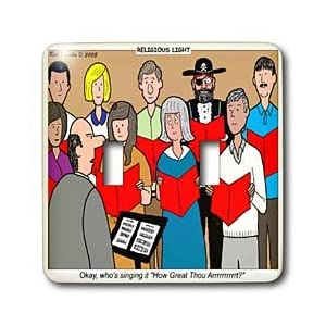 Rich Diesslins Funny Religious Light Cartoons - Choir - How Great Thou