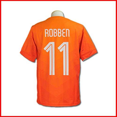 サッカーユニフォーム 【2014モデル】 オランダ代表 アリエン・ロッベン 背番号11 レプリカサッカーユニフォーム 大人用 F