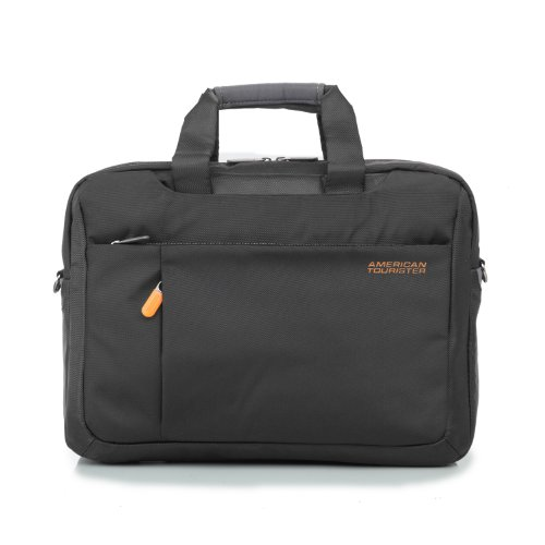 American Tourister 3 Way Black+Grey Office Bag