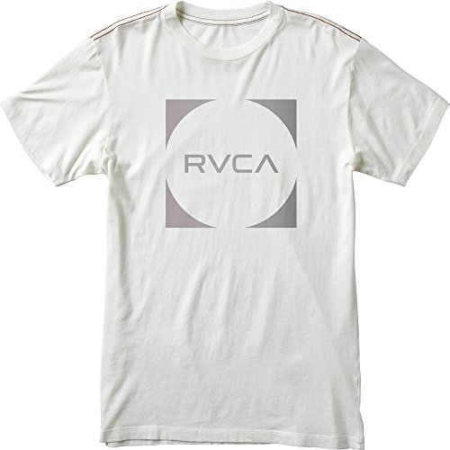 RVCA Men's Baller Fade T-Shirt, Vintage White, X-Large