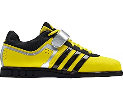 ADIDAS Powerlift 2 Adult Weightlifting Shoe, Yellow/Black, US7.5